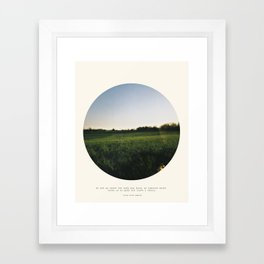Go Instead Framed Art Print