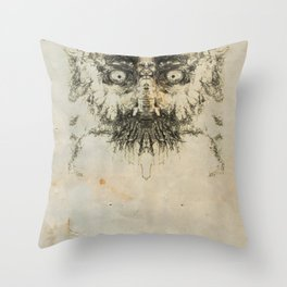 Skulloid I Throw Pillow