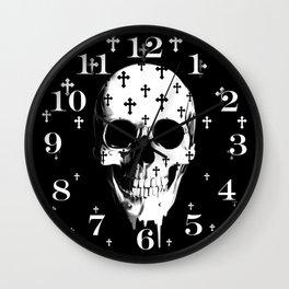 After Market, gothic skull Wall Clock