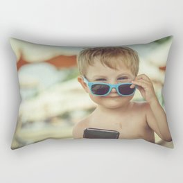 Little boss on the beach Rectangular Pillow