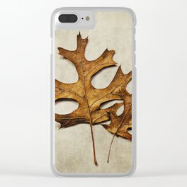two oak leaves Clear iPhone Case