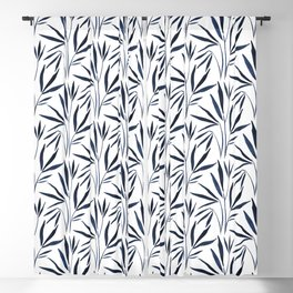 Bamboo | Blue Ink  Blackout Curtain