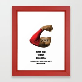 Full Metal Quarterback - TTU vs. OU 10.22.16 Framed Art Print