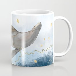 Flying Seal - Rising Waters Surreal Climate Change  Coffee Mug