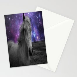 Horse Rides & Galaxy skies muted Stationery Cards