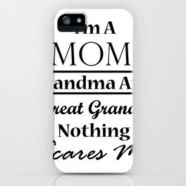 Grandma For Women Funny - Best Great Grandma Gifts iPhone Case