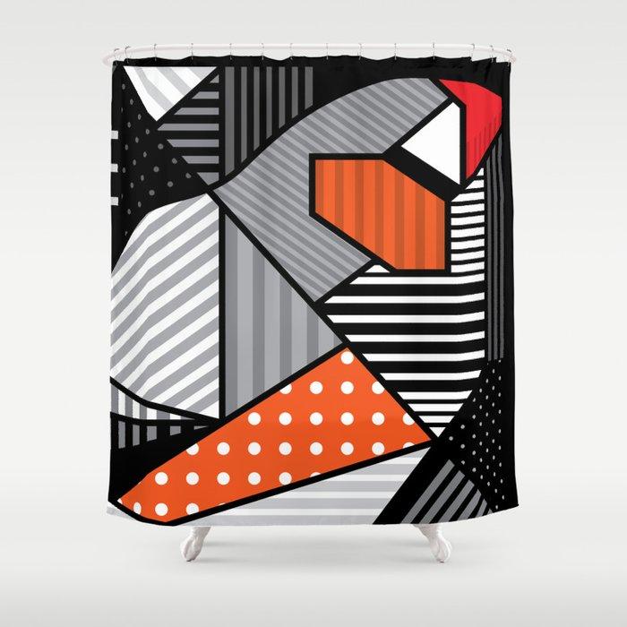 zebra finches Shower Curtain