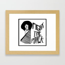 Fight the Power: Angela Davis Framed Art Print