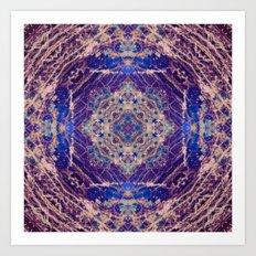 Labradorite Mandala Art Print