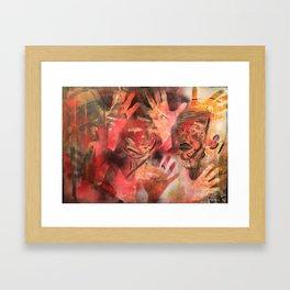 """Acrilic Canvas by Ignacio G. Azaña """"Help"""" Framed Art Print"""