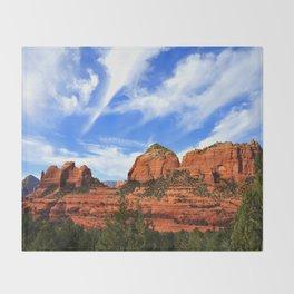 Red Rocks of Sedona Throw Blanket