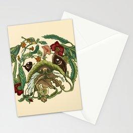 Botanical English Bulldog Stationery Cards