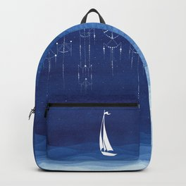Garland of stars, sailboat Backpack