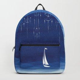 Garland of stars, sailboat Backpack