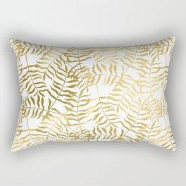 Gold Leaves 1 Rectangular Pillow