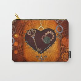 Steampunk, heart with gears Carry-All Pouch