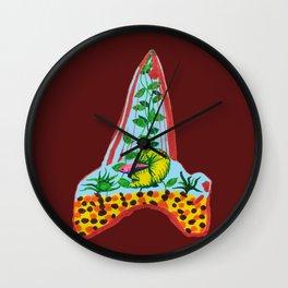 Shark Tooth Terrarium 9 Wall Clock