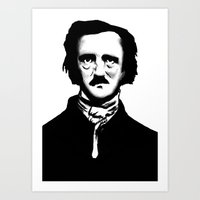 poe Art Prints featuring Poe by Zombie Rust
