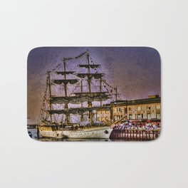 "Tall Ship ""Mircea"" Bath Mat"