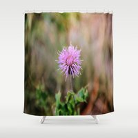 pain Shower Curtains featuring PINK PAIN. by SoNearlyOriginal