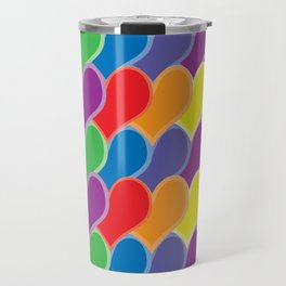 Pride Heart Scale Pattern Travel Mug