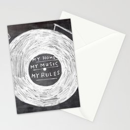 my home, my music, my rules Stationery Cards