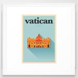 Minimal Vatican City Poster Framed Art Print