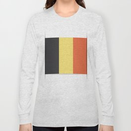 Flag of Belgium. The slit in the paper with shadows. Long Sleeve T-shirt