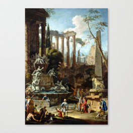Sebastiano Ricci Marco Ricci Memorial to Admiral Sir Clowdisley Shovel Canvas Print