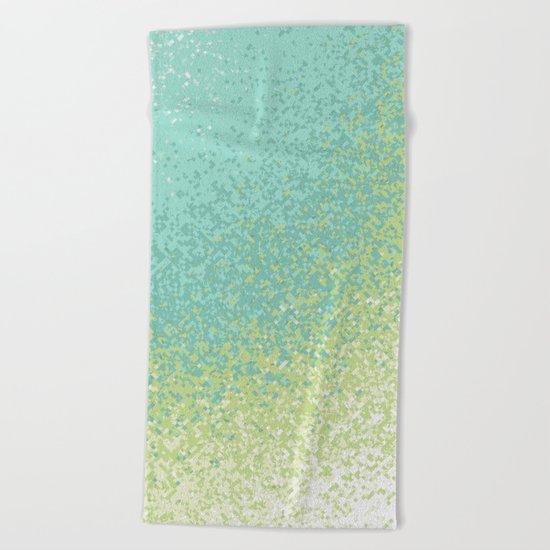Abstract Green Blend Beach Towel