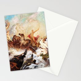Hans Makart - The victory of light over darkness - Digital Remastered Edition Stationery Cards