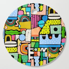 Color Block Collage Cutting Board