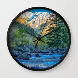 River Bed Sunrise // Long Exposure Landscape Photograph in the Colorado Rocky Mountains Wall Clock