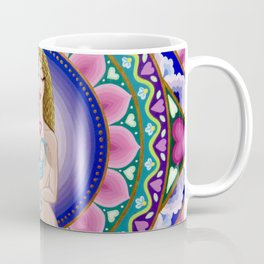 Mother and Child Lotus Mandala Coffee Mug