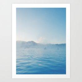 Steamy Blue Lagoon, Iceland Art Print