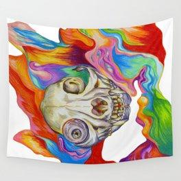 Tripping Cat Skull Wall Tapestry
