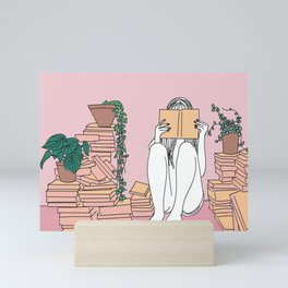 Reading is Lit Mini Art Print