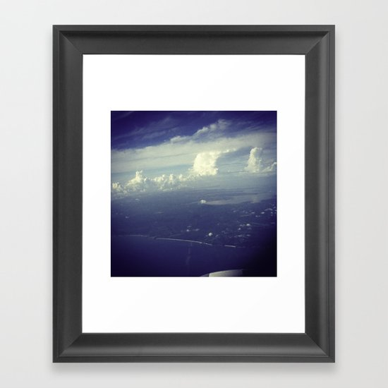 Sky Surfing Framed Art Print