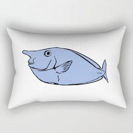 Unicorn fish illustration Rectangular Pillow