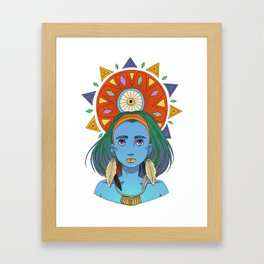 LOOK AT THE SUN Framed Art Print