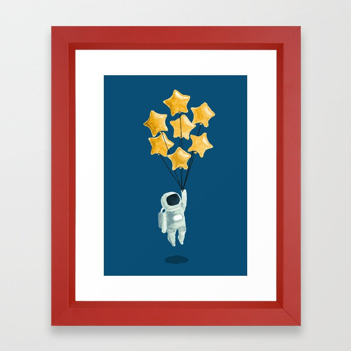 Astronaut's dream Framed Art Print