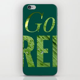 Go Green! Logo iPhone Skin