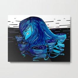 Inktober Day 4: Whirlpools Metal Print