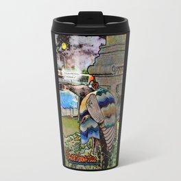 9 Banded Armadillo- Swimming Inflatables Travel Mug