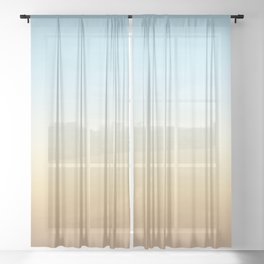 beach color gradient Sheer Curtain