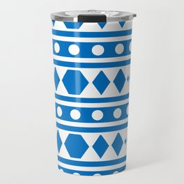 Blue Tribal Pattern Travel Mug