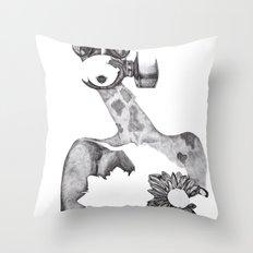 Anabelle (B&W) Throw Pillow