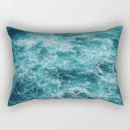 Blue Ocean Waves Rectangular Pillow
