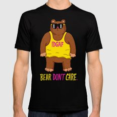 Bear Don't Care Mens Fitted Tee SMALL Black