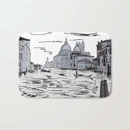 Venice . city on the water . Art Bath Mat